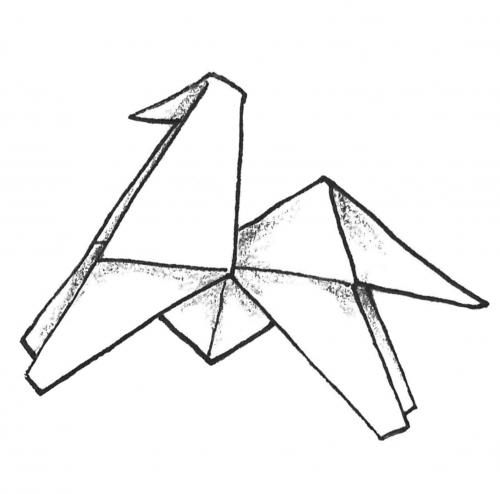 Illustration für drei Origami-Bücher