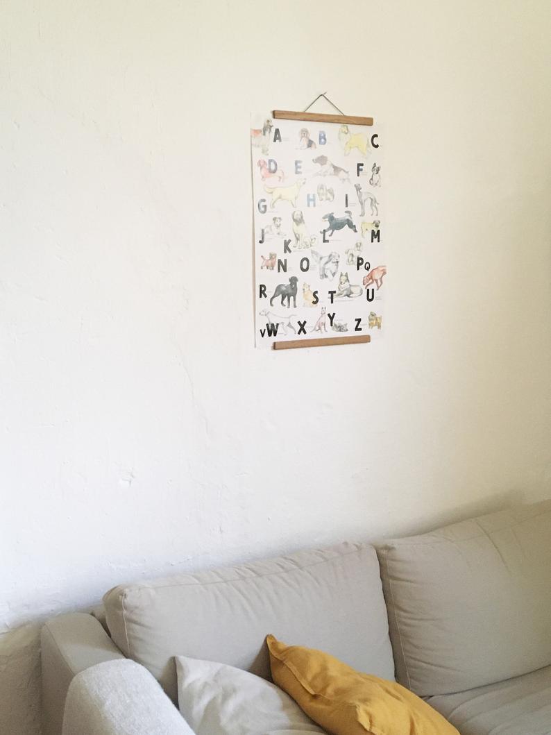 Hunde ABC Poster